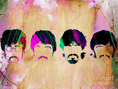 The Beatles Collection Print by Marvin Blaine
