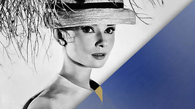 Audrey Hepburn Collection Print by Marvin Blaine
