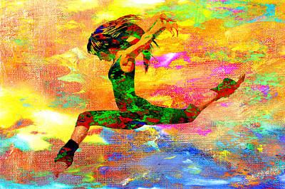 Ballet Digital Art - Dance by Elena Kosvincheva