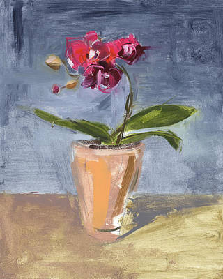 Orchids Painting - Rcnpaintings.com by Chris N Rohrbach