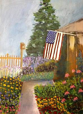 4th Of July Painting - 4th Of July Garden by Marita McVeigh