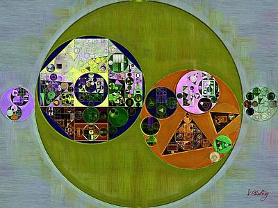 Rectangles Digital Art - Abstract Painting - Dark Jungle Green by Vitaliy Gladkiy