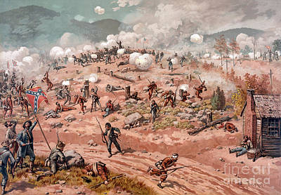 American Civil War, Battle Print by Science Source