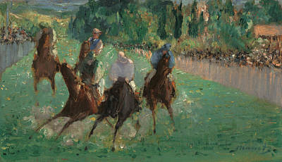 Race Painting - At The Races by Edouard Manet
