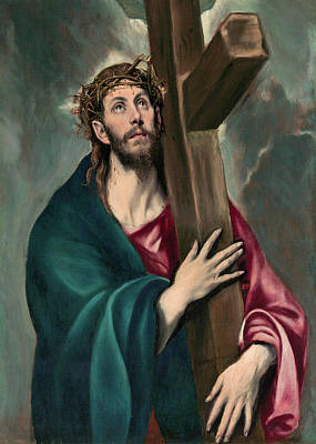 Cross Painting - Christ Carrying The Cross by El Greco