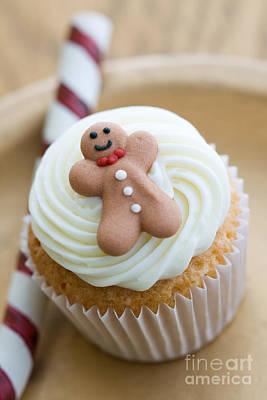 Christmas Cupcake Print by Ruth Black