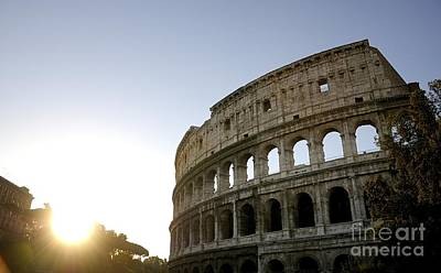Old Ruin Photograph - Coliseum. Rome by Bernard Jaubert