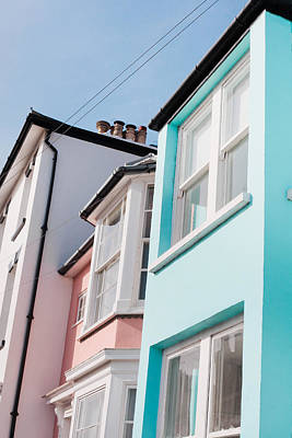 Colorful Houses Print by Tom Gowanlock