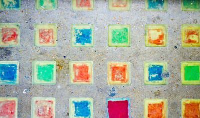 Mural Photograph - Colorful Tiles by Tom Gowanlock