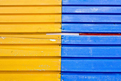 Colorful Wood Print by Tom Gowanlock