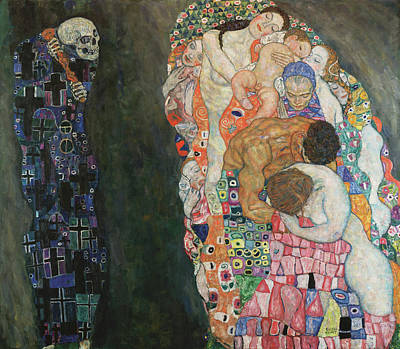Skull Painting - Death And Life by Gustav Klimt