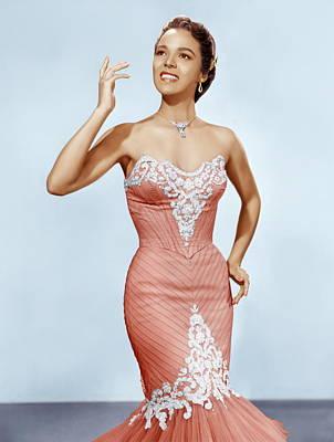 Diamond Necklace Photograph - Dorothy Dandridge, Ca. 1950s by Everett