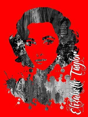 Elizabeth Mixed Media - Elizabeth Taylor Collection by Marvin Blaine