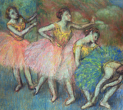 Ballet Painting - Four Dancers by Edgar Degas