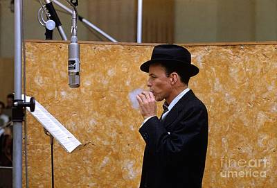 Frank Sinatra Photograph - Frank Sinatra - Capitol Records Recording Studio by The Titanic Project