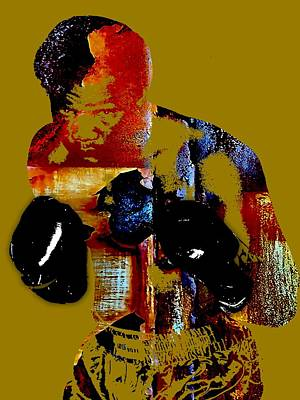 Boxer Mixed Media - George Foreman Collection by Marvin Blaine