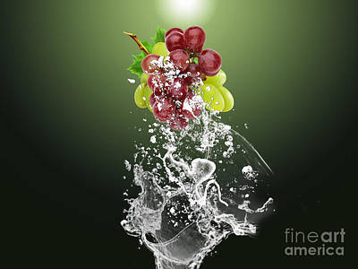 Grape Splash Print by Marvin Blaine