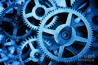 Mechanism Photograph - Grunge Gear Cog Wheels Background by Michal Bednarek