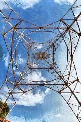 Pylon Painting - High Voltage Pylon by George Atsametakis