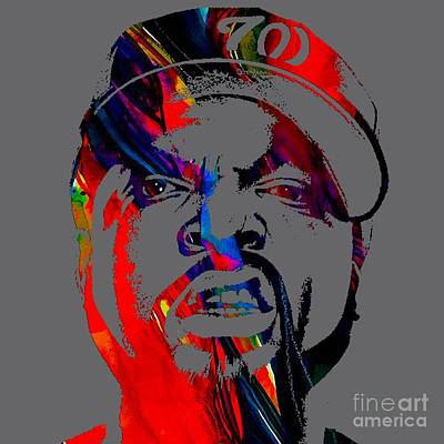 Ice Mixed Media - Ice Cube Straight Outta Compton by Marvin Blaine