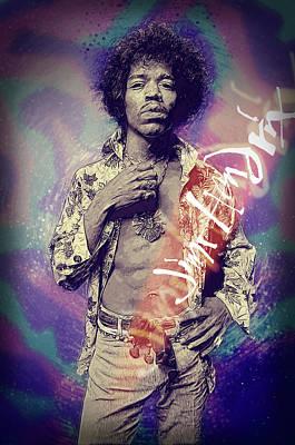 Jimi Hendrix Print by Taylan Soyturk