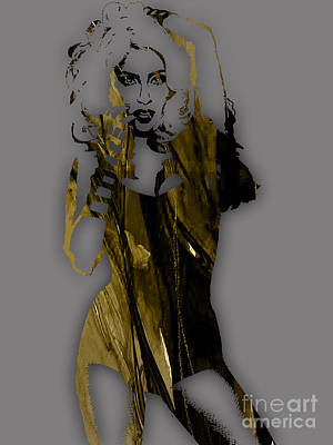 Celebrities Mixed Media - Lady Gaga Collection by Marvin Blaine