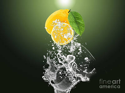 Lemon Mixed Media - Lemon Splast by Marvin Blaine