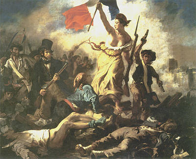 Liberty Leading The People Print by Eugene Delacroix
