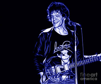 Lou Reed Collection Print by Marvin Blaine