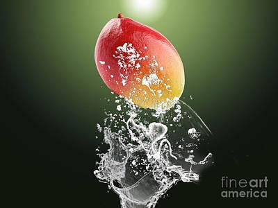 Mango Splash Print by Marvin Blaine