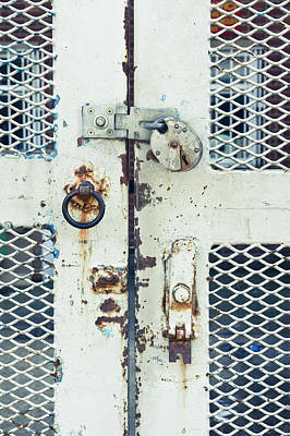 Cage Photograph - Metal Gate by Tom Gowanlock