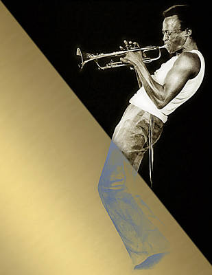 Musician Mixed Media - Miles Davis Collection by Marvin Blaine