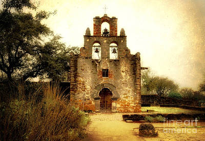 Historical Photograph - Mission Espada by Iris Greenwell
