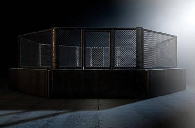 Fight Digital Art - Mma Cage Night by Allan Swart