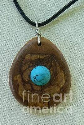 Original featuring the jewelry Olive Wood Necklace by Eric Kempson
