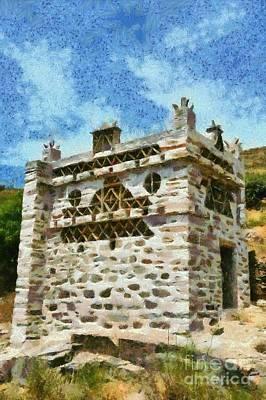 Pigeons Painting - Pigeon House  by George Atsametakis