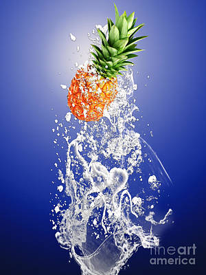 Pineapple Mixed Media - Pineapple Splash by Marvin Blaine