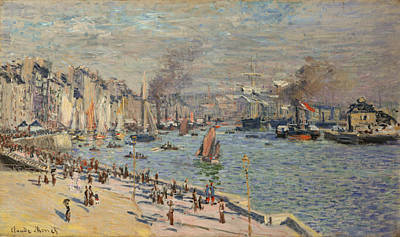 Marine Painting - Port Of Le Havre by Claude Monet