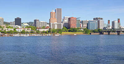 Portland Oregon Skyline Panorama. Original by Gino Rigucci