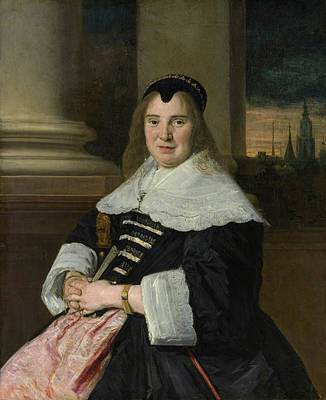 Chair Painting - Portrait Of A Woman by Frans Hals