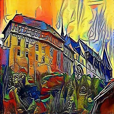 Praha Drawing - Prague Castle - My Www Vikinek-art.com by Viktor Lebeda