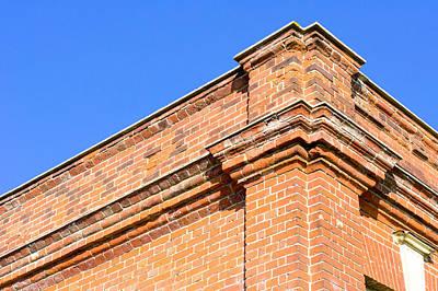 Red Brick Building Print by Tom Gowanlock