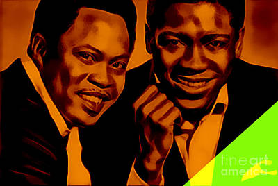 Music Mixed Media - Sam And Dave Collection by Marvin Blaine