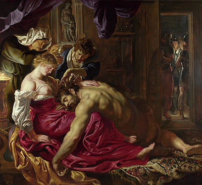 Indoor Painting - Samson And Delilah by Peter Paul Rubens