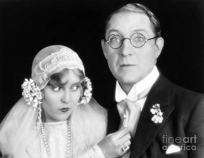 Necklace Photograph - Silent Film Still: Wedding by Granger