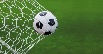 Turf Photograph - Soccer Ball In Goal  by Anek Suwannaphoom