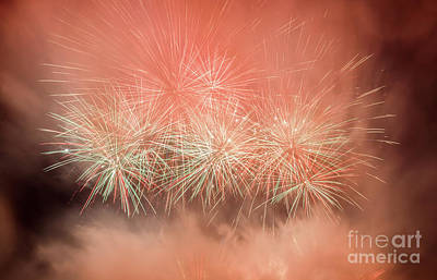 Birthday Photograph - Spectacular Fireworks Show Light Up The Sky. New Year Celebration. by Michal Bednarek