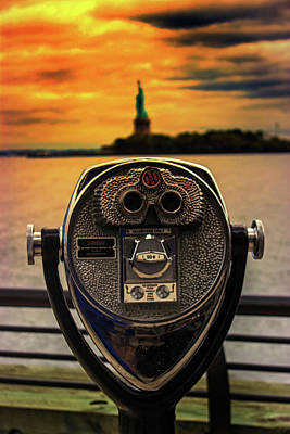 Liberty Building Photograph - Statue Of Liberty by Martin Newman