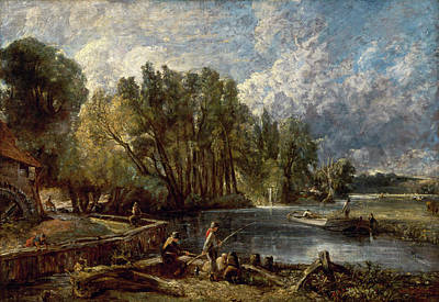 Tree Painting - Stratford Mill by John Constable