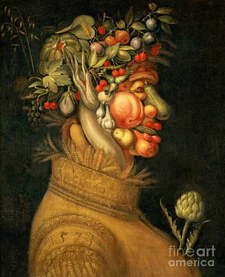 Pears Painting - Summer by Giuseppe Arcimboldo